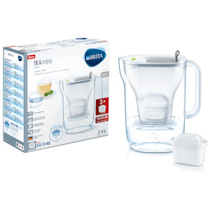BRITA Maxtra+ Style Cool Water Filter Jug Starter Pack with 3 Cartridges - Grey