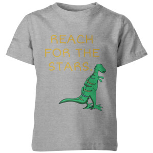 T-Shirt Enfant Reach For The Stars Dinosaure - Gris