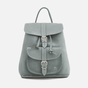 Grafea Women's Elizabeth Small Nubuck Backpack - Arctic Grey