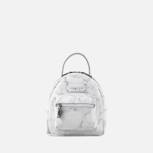 Grafea Women's Mini Zippy Marble Backpack - White Effect