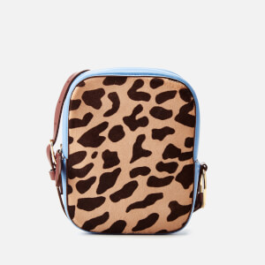 Diane von Furstenberg Women's Leopard Print Camera Bag - Powder Blue
