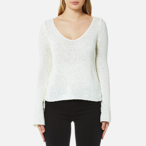 MINKPINK Women's Beau Lace Side Sweater - White