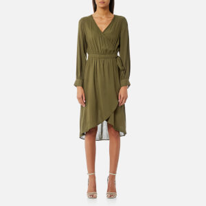 MINKPINK Women's Marie Wrap Dress - Khaki