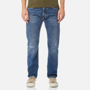 Edwin Men's ED-55 Regular Tapered Jeans - Average Repair Wash