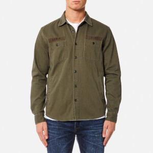 Edwin Men's Labour 4 Pockets Shirt - Military Green