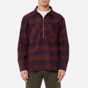 Edwin Men's Jesse Popover Shirt - Wine/Navy