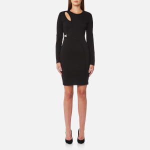 Versace Jeans Women's Long Sleeve Dress - Black