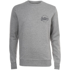 Jack & Jones Originals Men's Raf Small Logo Sweatshirt - Light Grey Marl