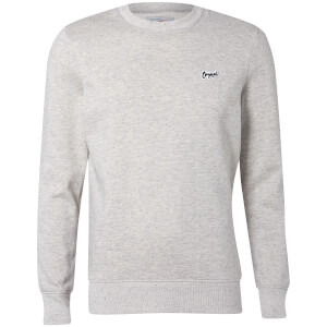 Jack & Jones Originals Men's Nepped Logo Sweatshirt - Light Grey Marl