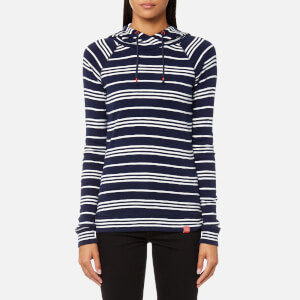 Joules Women's Marlston Hooded Sweatshirt - French Navy Stripe