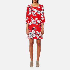 Joules Women's Ambion Woven Shift Dress - Red Posy