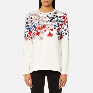 Joules Women's Clemence Printed Crew Neck Sweatshirt - Cream Fay Floral