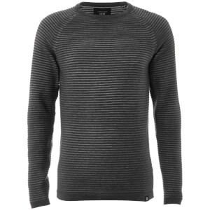 Jack & Jones Core Men's Wind Rib Knitted Jumper - Dark Grey Marl