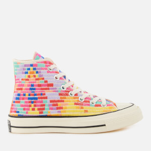 Converse X Mara Hoffman Women's Chuck Taylor All Star '70 Hi-Top Trainers - Purple/Pink/Egret