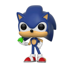 Figura Pop! Vinyl Sonic con esmeralda - Sonic The Hedgehog