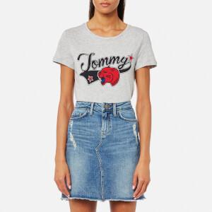 Tommy Hilfiger Women's Panther T-Shirt - Light Grey