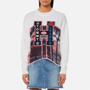 Tommy Hilfiger Women's Alekza Heritage Crew Neck Sweater - White