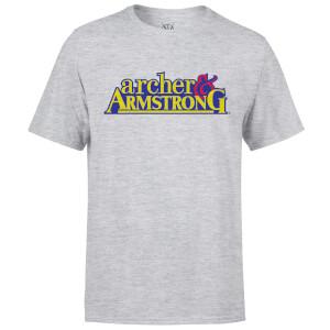 T-Shirt Homme Logo Classique Archer and Armstrong Valiant Comics - Gris