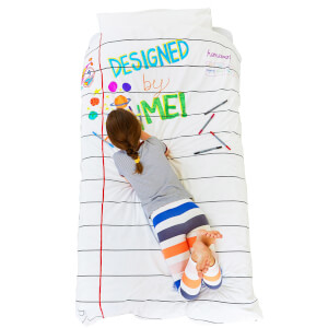 Doodle Duvet Cover (Single) with 10 Wash Out Pens