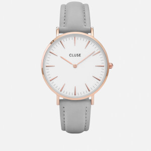 Cluse Women's La Bohème Leather Watch - Grey
