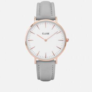 Cluse Women's La Bohème Leather Watch - Grey