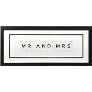 Vintage Playing Cards Mr and Mrs Framed Wall Art