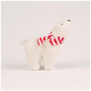 Sass & Belle Felt Polar Bear Standing Decoration