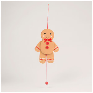 Sass & Belle Gingerbread Man Jumping Jack Decoration