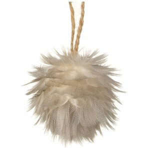 Parlane Feather Hanging Decoration (10 x 10cm) - Cream