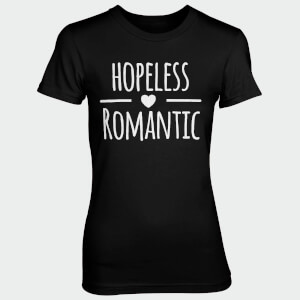 Hopeless Romantic Women's Black T-Shirt