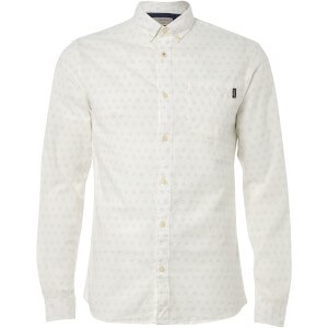 Jack & Jones Originals Men's Mutough Printed Long Sleeve Shirt - Cloud Dancer