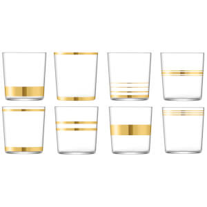 LSA Deco Tumblers - 390ml (Set of 8)