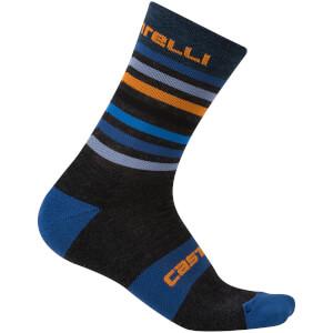 Castelli Gregge 15 Socks - Dark Blue/Grey
