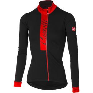 Castelli Women's Sorriso Long Sleeve Jersey - Light Black/Red