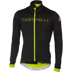 Castelli Velocissimo 2 Long Sleeve Jersey - Light Black/Yellow Fluo