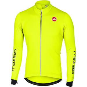 Castelli Puro 2 Long Sleeve Jersey - Yellow Fluo