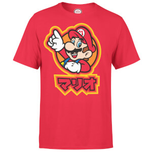 Nintendo Super Mario Mario Kanji Men's Red T-Shirt