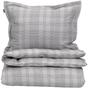 GANT Home Flannel Check Duvet Cover - Grey