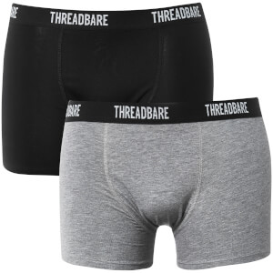 Threadbare Men's Acton 3 Pack Boxers - Black/Grey