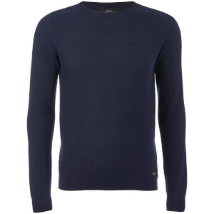 Threadbare Men's Bruce Textured Raglan Jumper - Rich Navy
