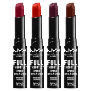 NYX 프로페셔널 메이크업 풀 스로틀 립스틱 (색상다양) (NYX PROFESSIONAL MAKEUP FULL THROTTLE LIPSTICK (VARIOUS SHADES))