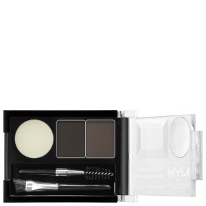 NYX Professional Makeup Paleta de Cejas Cake Powder - Black/Grey