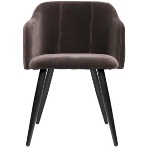 Broste Copenhagen Velvet Pernille Chair - Espresso