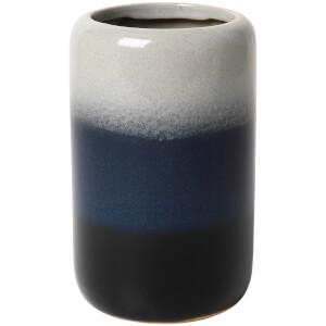 Broste Copenhagen Lau Tall Ceramic Vase - Insignia Blue