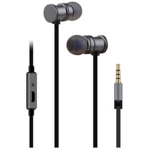 Écouteurs AV: Link Métalliques et Aimantés avec Technologie Anti Nœuds - Gris Métallique