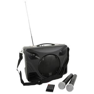 QTX DELTA-50 Handheld Portable Bluetooth 50W PA System (USB/SD/FM/2x Mic/Remote)