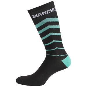 Bianchi Penice Socks - Black/Celeste V Stripe