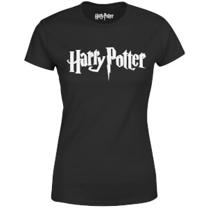 Harry Potter Logo Dames T-shirt - Zwart