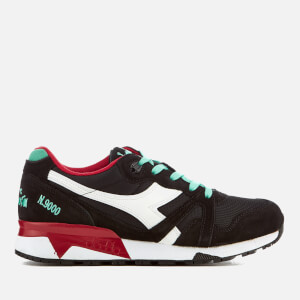 Diadora Men's N9000 III Trainers - Black/Waterfall/Chilli Pepper