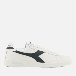 Diadora Men's Game L Low Leather Cupsole Trainers - White/Dress Blue